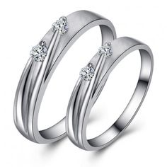 Cubic Zirconia Jewelry Korean Fashion Elegant Silver With Cubic Zirconia Couple Rings - Shop Our Korean Fashion Elegant Silver With Cubic Zirconia Couple Rings With The Lowest Price And Get Extensive Classic And Fashion Ring Collection Today. Gold And Silver Bracelets, Silver Rings, Crystal Jewelry, Sterling Silver Jewelry, Gold Jewelry, Diamond Jewelry, Where To Buy Silver, Tiffany Earrings, Platinum Wedding Rings