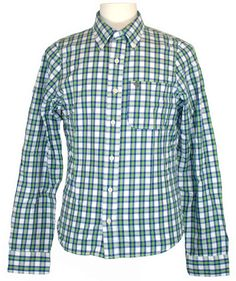Abercrombie & Fitch Mens Shirt HUNTERS PASS Button Down Plaid Green Sz S NEW $88 #AbercrombieFitch #ButtonFront