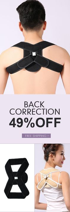 Adjustable Elastic Back Posture Corrector Support Brace Shoulder Correction Belt Health Care