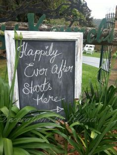 Gorgeous vintage wedding reception sign