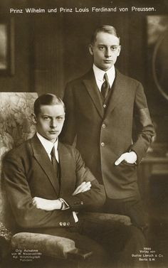Prinz Wilhelm und Prinz Lous Ferdinand  von Preußen
