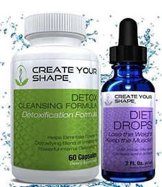 Create Your Shape Detox Cleanse Weight Loss Diet Drops Best Seller Rapid Weight Loss Flush Toxins Appetite Suppressant African Mango Fat Burner Increased Energy -- Check out the image by visiting the link. Kidney Detox Cleanse, Full Body Detox, Natural Detox Drinks, Bebidas Detox, Detox Tips, Detox Recipes, Smoothie Recipes, Fat Burning Detox Drinks, Fast Weight Loss Tips
