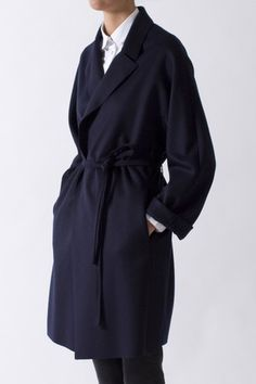 Wrap around | Dressing gown shape | Ember Wool Coat