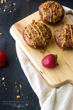 PB and J Quinoa Egg Muffins - A quick, easy portable and SUPER healthy breakfast that and you and your kids will love! | Foodfaithfitness.com | @FoodFaithFit