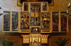 Winged triptych made by Jan van Wavere in 1520. Vienna, Church of the Teutonic Order (St. Elisabeth of  Hungary).