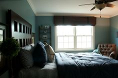 A college guy's bedroom in Long Grove, IL. Designed by Eclectic Design Source.