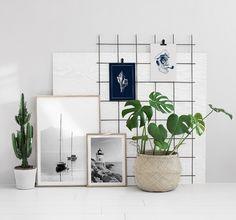 Collage mit Schwarz-Weiß-Fotografien und Typografie-Postern