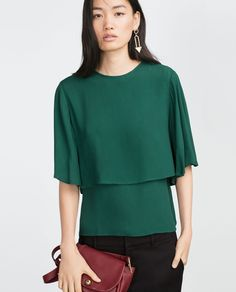 LAYERED BLOUSE-View all-Tops-WOMAN | ZARA United States