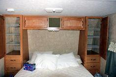 installing shelves in closet of RV
