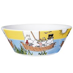 Moomin bowl, Sailing with Nibling & Tooticky, by Arabia.