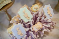 "A ""Sparkly Mermaid Party"" by Little Big Company Biscuits by The Iced Biscuit"