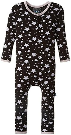 KicKee Pants Unisex Baby Print Fitted Coverall PrdKpca213Mnsr Midnight Stars 612 Months * Check out the image by visiting the link.Note:It is affiliate link to Amazon.