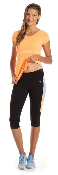 Barbados Short Sleeve and Belize Capri ♡ #fitness #fashion
