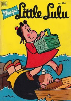 Marge's Little Lulu G 1952 Dell Comic Picnic Boat Classic Cartoon Characters, Favorite Cartoon Character, Comic Book Characters, Vintage Comic Books, Vintage Cartoon, Vintage Comics, Vintage Toys, Classic Comics, Classic Cartoons