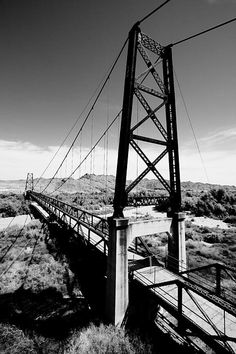 """#Yuma #Arizona This 800-foot-long suspension bridge spanned the Gila River when it was built in 1929, and was named McPhaul Bridge in honor of Henry Harrison McPhaul, """"the only Yuma resident who ever became an Arizona Ranger."""""""