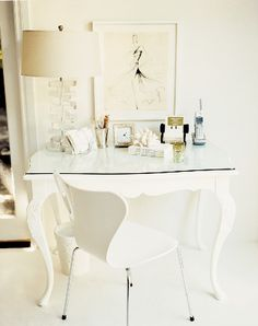 All White- Inspired Home Office