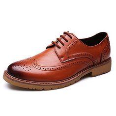 Oferta: 59.99€ Dto: -17%. Comprar Ofertas de Alexis Leroy Derby - Zapatos de vestir brogues para hombre marrón 41 EU / 7 UK barato. ¡Mira las ofertas!