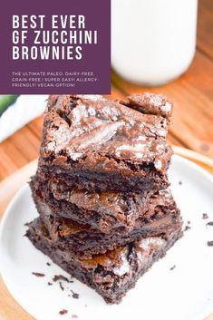 Dairy Free Zucchini Brownies, Zucchini Desserts, Chocolate Zucchini Brownies, Egg Free Desserts, Zuchinni Recipes, Gluten Free Brownies, Vegan Desserts, Zuchinni Brownies, Moist Brownies