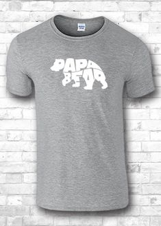 Papa Bear Shirt Father Day Gift Idea T Shirt by FourSeasonsTshirt