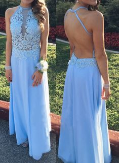 Blue Halter Prom Dress,A-Line Prom Dresses,Evening Dress,Wedding #prom #promdress #dress #eveningdress #evening #fashion #love #shopping #art #dress #women #mermaid #SEXY #SexyGirl #PromDresses