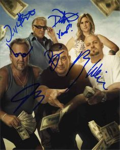 Storage Wars Cast by 5 Signed 8x10 Photo Certified Authentic JSA