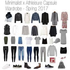Minimalist + Athleisure Capsule Wardrobe, Spring 2017 #capsulewardrobe #athleisurewardrobe #springwardrobe