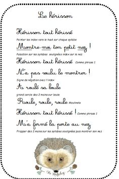 Comptine des animaux de la forêt - La maternelle de Vivi Autumn Activities, Writing Activities, French Poems, School Songs, French Grammar, Good Old Times, Petite Section, Teaching French, Home Schooling