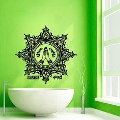 Wall Decals Yoga Indian Mandala Pattern Vinyl Sticker Murals Wall Decor KG124
