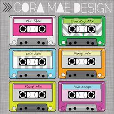 FREE PRINTABLE cassette tape clipart