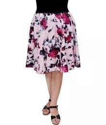 Gracediva Polyester Digital Rose Print Skirt