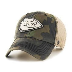 dd2a8472f43 Kansas City Chiefs 47 Brand Green Howitzer Camo Burnett Mesh Adjustable Hat  Cap