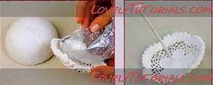 How to make an umbrella using a half foam ball