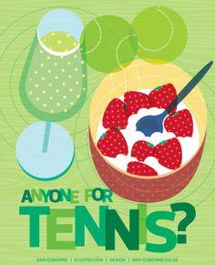 Anyone for Tennis? Wimbledon starts today! #wimbledon #tennis #illustration