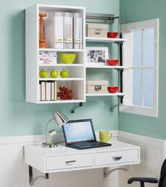 Schreibtisch im Kinderzimmer klein regale weiß