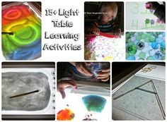 15+ Light Table Learning Activities - Where Imagination Grows