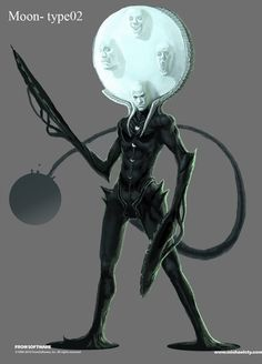 Moon Male Concept - Pictures & Characters Art - Dark Souls