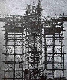 Construction of Christ the Redeemer, Rio de Janeiro - 1924