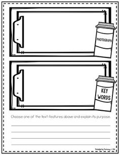 Text Feature Surgery | EDITABLE Abc Story, Story Maps, Text Features, To Focus, Second Grade, Nonfiction, Surgery, Texts, Student