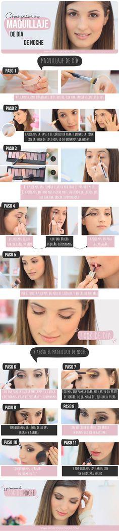 Pasar un maquillaje de día a uno de noche