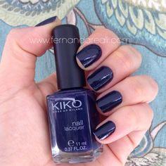 Esmalte Kiko 523 azul marinho. Nails, nail polish