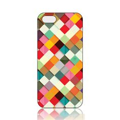 High Popularity Grid Colorful Pattern Hard Case for iPhone5/5S BHW Is Widely Used By More And More People All Over The World!