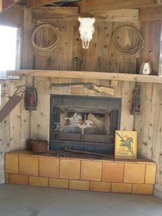 outdoor western fireplace