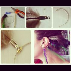 Feather ear cuff  www.quenotecueste.blogspot.com