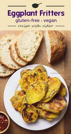 Eggplant Fritters pan-fried instead of deep fried for less fat. Eggplant Fritters pan-fried instead of deep fried for less fat. Source by veganlovlie Vegan Recipes For One, Vegan Recipes Videos, Vegan Dinner Recipes, Delicious Vegan Recipes, Vegan Snacks, Vegetarian Recipes, Vegan Food, Eating Vegan, Healthy Recipes