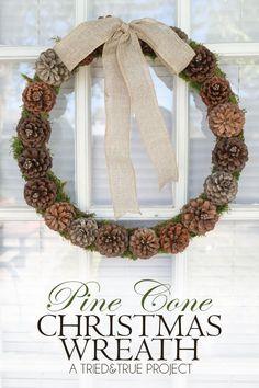 Rustic Pine Cone Winter Wreath