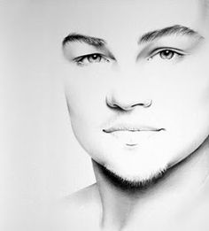 Leonardo Di Caprio. Celebrity Black and White Stylish Drawing Portraits, come see how it is done. To see more art and information about Ileana Hunter click the image.