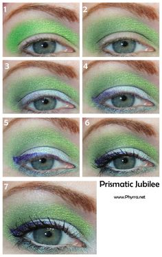 Absinthe for Jubilee. Click through to see the tutorial. #sugarpill #occ #bfte #milani