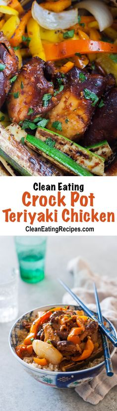 I'm in love with this Clean Eating crock pot chicken recipe! I've made it tons of times with lots of variations and I love them all. So easy!