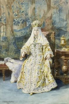 Empress Alexandra Feodorovna of Russia in her costume for the 1903 Ball at the Winter Palace. Alexandra Feodorovna, Hesse, Queen Victoria Prince Albert, Winter Palace, Tsar Nicholas Ii, Rare Images, Imperial Russia, Beautiful Paintings, Royalty