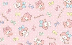 Sanrio: My Melody:) Sanrio Wallpaper, Hello Kitty Wallpaper Hd, My Melody Wallpaper, Rilakkuma Wallpaper, Macbook Wallpaper, Star Wallpaper, Kawaii Wallpaper, Disney Wallpaper, Flamingo Party